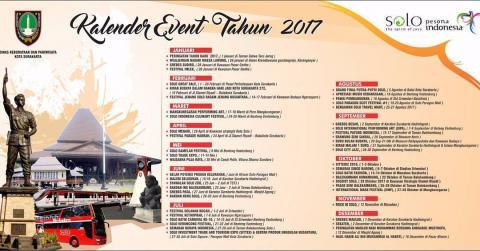 Agenda Wisata Solo dan Kalender Event 2017 Kota Surakarta